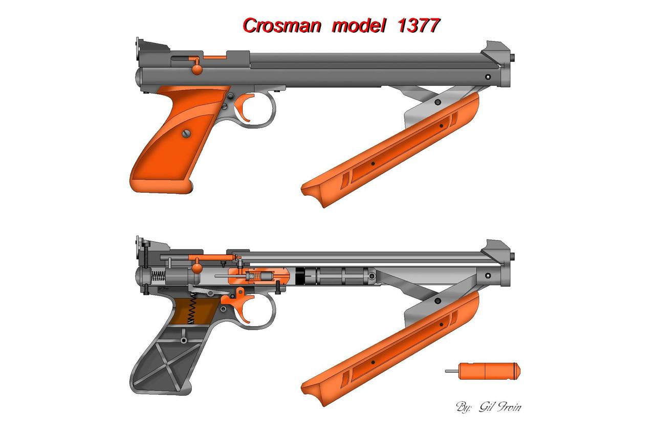 ... Пистолет пневматический Crosman 1377, фото 3