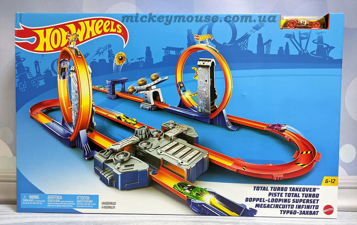 Трек Хот Вилс Двойное ускорение Hot Wheels Track Builder Total Turbo BGX89