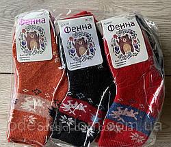 Дитячі шерстяні шкарпетки з махрою тм Фенна р20-25