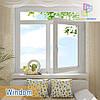 """Окно с фрамугой Windom Euro 1400x1700 """"Окна Маркет"""""""