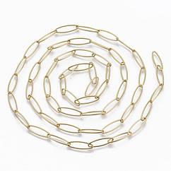 Якірна ланцюг, Нержавіюча Сталь, Колір: Золото, Розмір: 20х6х1мм, (УТ100024576)