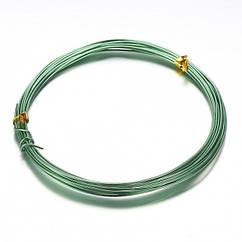 Алюмінієва Дріт 1мм/10м, Колір: Зелений, Товщина 0.8 мм, 10м/котушка, (УТ100024584)