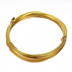 Алюмінієва Дріт 1мм/10м, Колір: Золото, Товщина 0.8 мм, 10м/котушка, (УТ100024589)