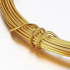 Алюмінієва Дріт 1.2 мм/10м, Колір: Золото, Товщина: 1.2 мм, 10м/котушка, (УТ100024591)