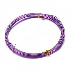 Алюмінієва Дріт 1мм/10м, Колір: Пурпурний, Товщина 0.8 мм, 10м/котушка, (УТ100024608)