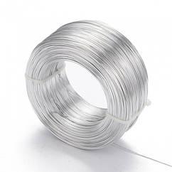 Алюмінієва Дріт 0.8 мм/300м, Колір: Срібло, Товщина 0.8 мм, 300м/котушка, (УТ100024615)