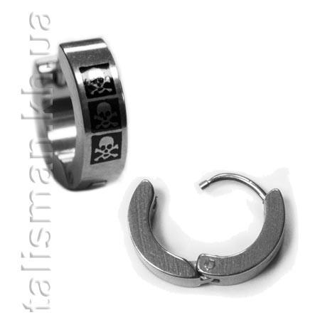 Серьга-кольцо - SK-08 - с рисунком
