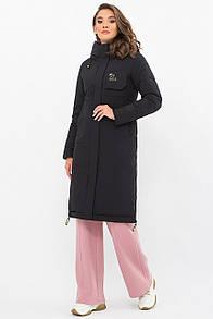 Стильная женская куртка-пальто биопух  прямая S M L XL 2XL  размер
