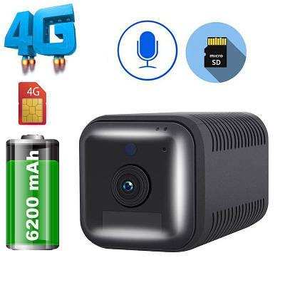 4G камера автономная мини с большим аккумулятором 6200 мАч ESCAM G20, FullHD 1080P, датчик движения