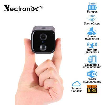 Мини камера wifi с датчиком движения Nectronix A21 с автономной работой до 90 дней, FullHD 1080P