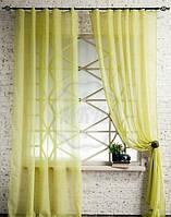 Декоративные шторки из вуали №3(оливка)