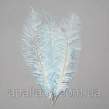 Страусиное перо 55 см светло-голубой