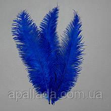 Страусиное перо 55 см сине-фиолетовый