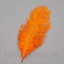 Страусиное перо 25-30 см оранжевый