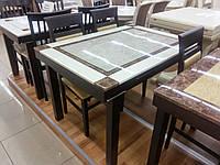 Стол кухонный раскладной со столешницей из искусственного камня ZH-878 - BGY