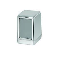 Диспенсер для салфеток настольный АБС пластик, 9303 серый металлик