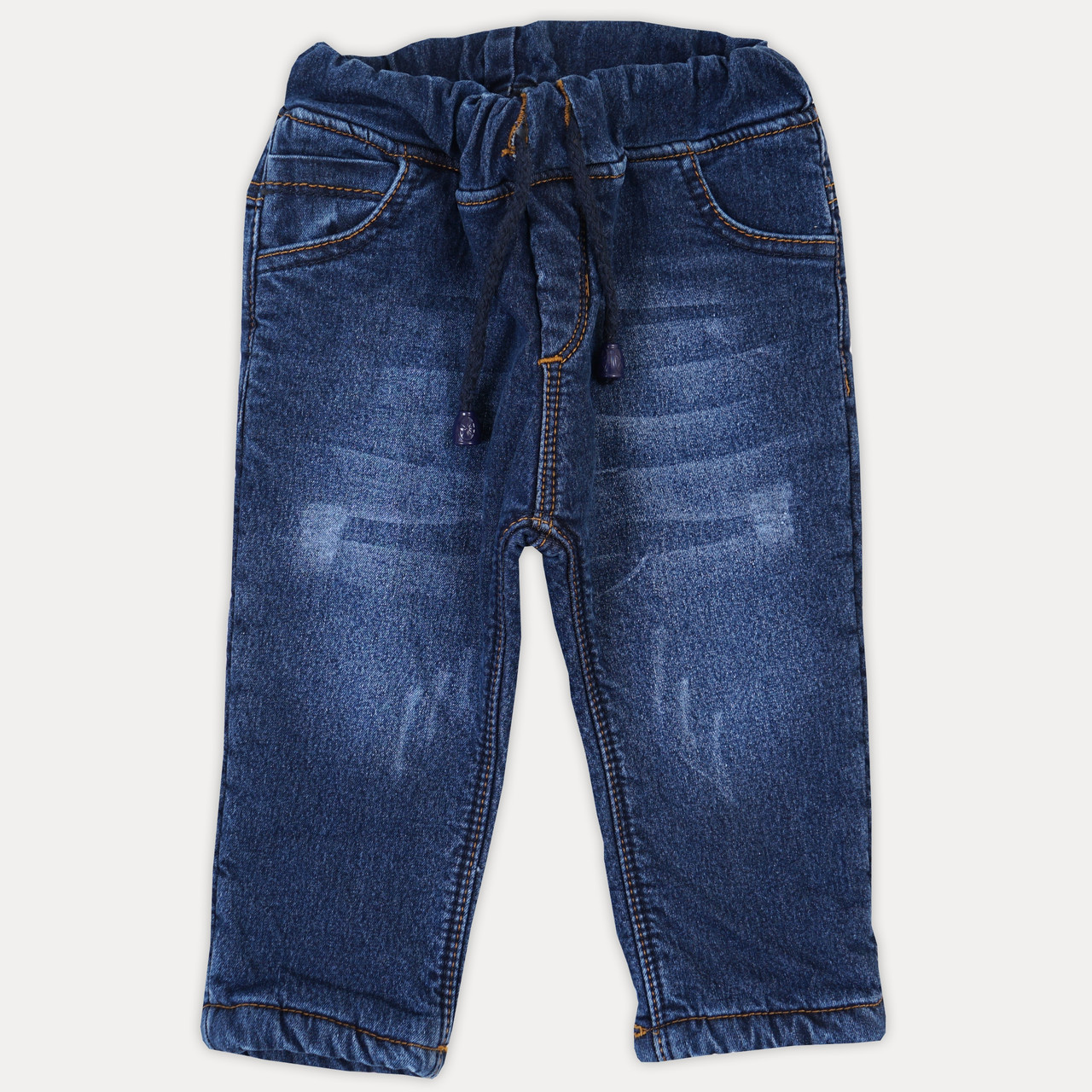 """Стильные меховые детские джинсы для мальчика """"Oroginal"""". Джинсы на мальчика 1-5 лет с ризинкой на поясе"""