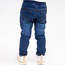"""Стильные меховые детские джинсы для мальчика """"Oroginal"""". Джинсы на мальчика 1-5 лет с ризинкой на поясе, фото 3"""