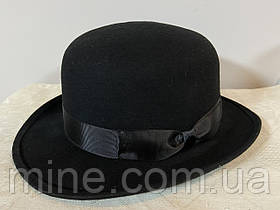 Класична чорна чоловіча фетровий капелюх поля 5,5 см розмір 56 57 58 см