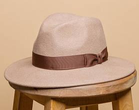 Жіноча фетровий капелюх під чоловічий стиль 55-59 см поля 7 см колір під замовлення