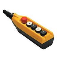 Крановый пульт управления 5-кнопочный, аварийный стоп d=30mm, 1 скорость (жёлто-чёрный) PV5Е30В22, ЭМАС