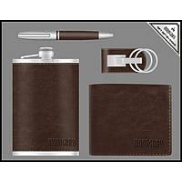 Подарочный набор Moongrass, фляга + портмоне + ручка + брелок