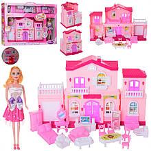 Будиночок для ляльок типу Барбі з меблями 6665 лялька в наборі