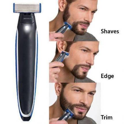 Подвійний тример бритва чоловіча універсальна MicroTouch SOLO стрижка бороди, фото 2