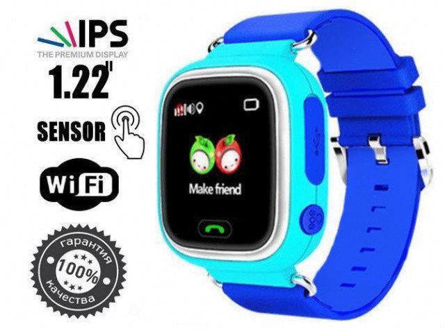 Дитячі годинник-телефон Smart Baby Watch Q90 (телефон,мікрофон,GPS)