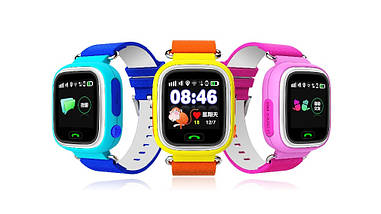 Дитячі годинник-телефон Smart Baby Watch Q90 (телефон,мікрофон,GPS), фото 3