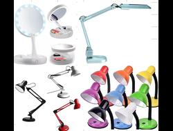 Лампи-лупи косметологічні, настільні лампи