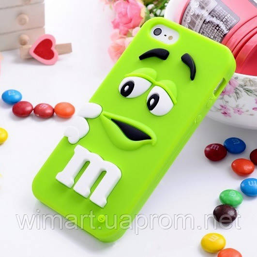 Чехол M&M's для Apple iPhone 5c зеленый