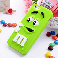Чехол M&M's для Apple iPhone 5/5s зеленый, фото 1