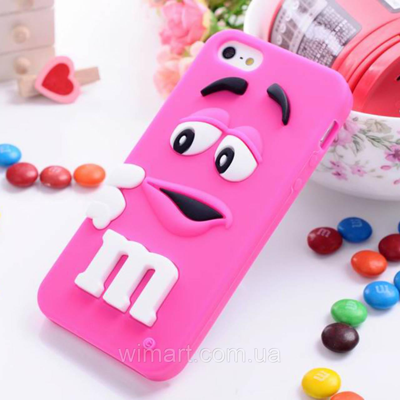 Чохол M&m's для Apple iPhone 5/5s рожевий