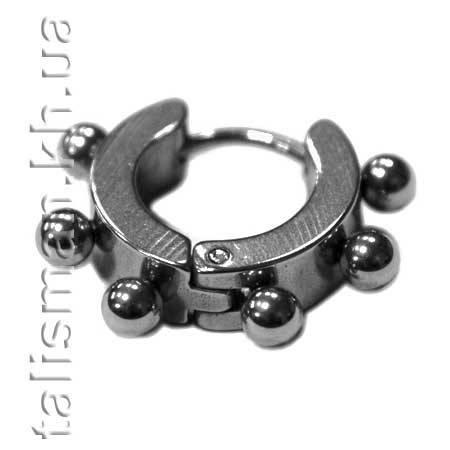 Серьга-кольцо - SP-11 - с шариками, фото 2