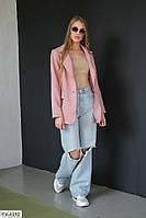 Классический стильный женский пиджак из креп-костюмки р-ры 42-44,44-46
