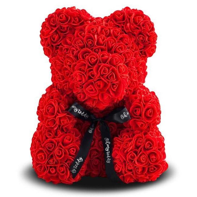 Мишко з троянд, 25 см KS Bear Flowers KS B1 Red SKL11-148567