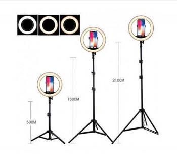 Кільцева лампа Led 26 см зі штативом і з тримачем для телефону для селфи і юних блогерів SKL11-278731