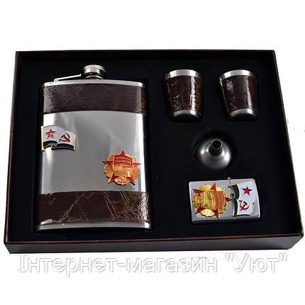 Подарочный набор, фляга + стаканы + лейка + зажигалка, фото 2