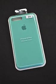 Чохол для телефону iPhone 7 + / 8 + Silicone Case original FULL №2 azure