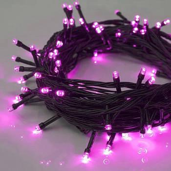 Xmas Нитка 180 LED/Рожевий/Зелений провід/15 метрів ЛЮКС якість