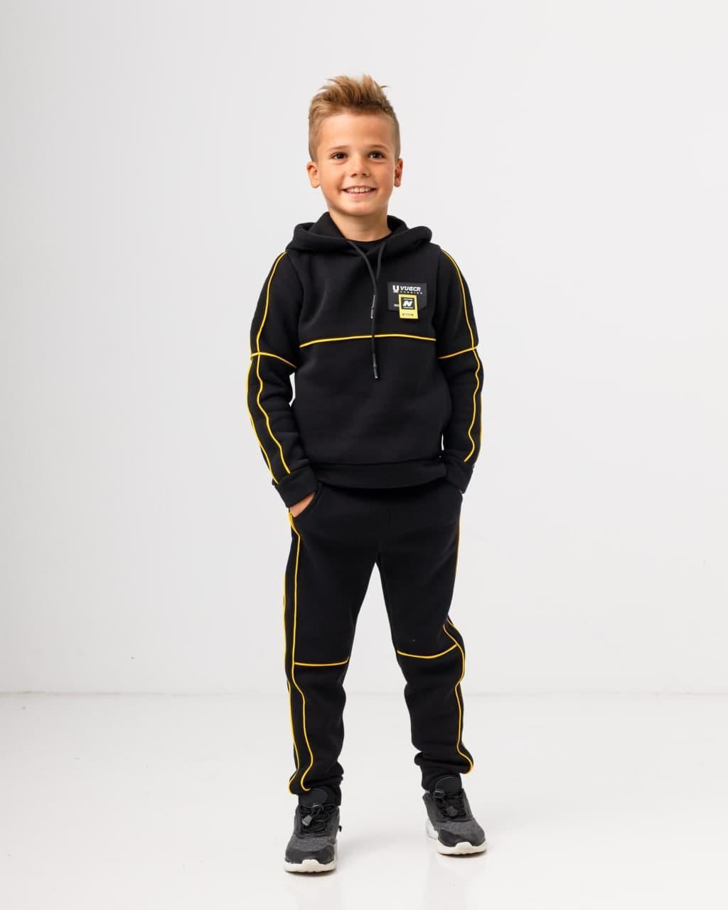 Тёплый спортивный костюм с начесом для мальчика р. от 110 до 140 SKL90-322801