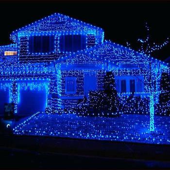 Xmas Вулична Нитка 800 LED/Синій/ Зелений провід/40 метрів