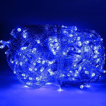Xmas Нитка 300 LED/СИНІЙ/Прозорий провід/20 метрів