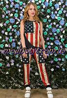 Женской костюм с эмблемой флага