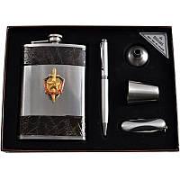 Подарочный набор, фляга + ручка + лейка + стаканы