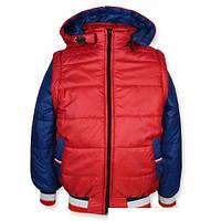 Куртка-жилетка (Бордо+Синий) рр. 110-122