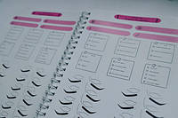 Блокнот/журнал Лэшмейкера для ведения базы клиентов и индивидуальные карты клиента Lashmaker Note