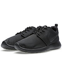 "Кроссовки Nike Roshe Run ""Triple Black"" (Копия ААА+), фото 1"