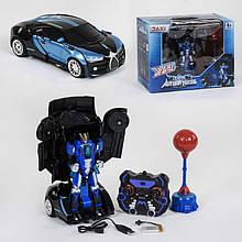 Автобот-боксер TT 685, робот-трансформер с боксерской грушой, звуковыми и световыми эффектами (цвет синий)